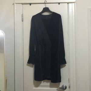 Rag and bone silk and velvet wrap dress